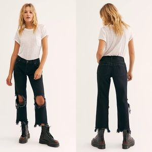 NEW Free People Maggie Mid-Rise Straight-Leg Jeans